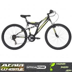 MAINO SHOCKWAVE, Bicicletta MTB Uomo, Nero/Giallo, 47