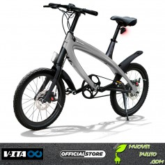 V-ITA EBIKE Solid Dark Steel Grey - Smart Masterpieces 2019 bike Torino