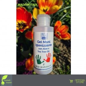 GEL IGENIZZANTE per le MANI NATURALE CON ALOE E TEA TREE OIL