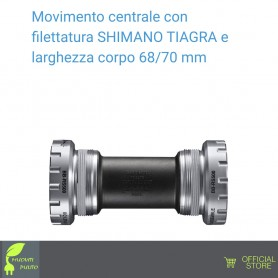 SHIMANO BB-RS500 TIAGRA - Movimento centrale - Con filettatura - HOLLOWTECH II - Larghezza corpo 68/70 mm
