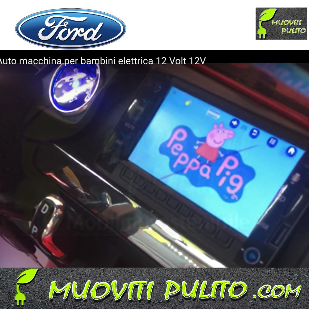 Ford luxury 12v 12 volt touch screen bambini