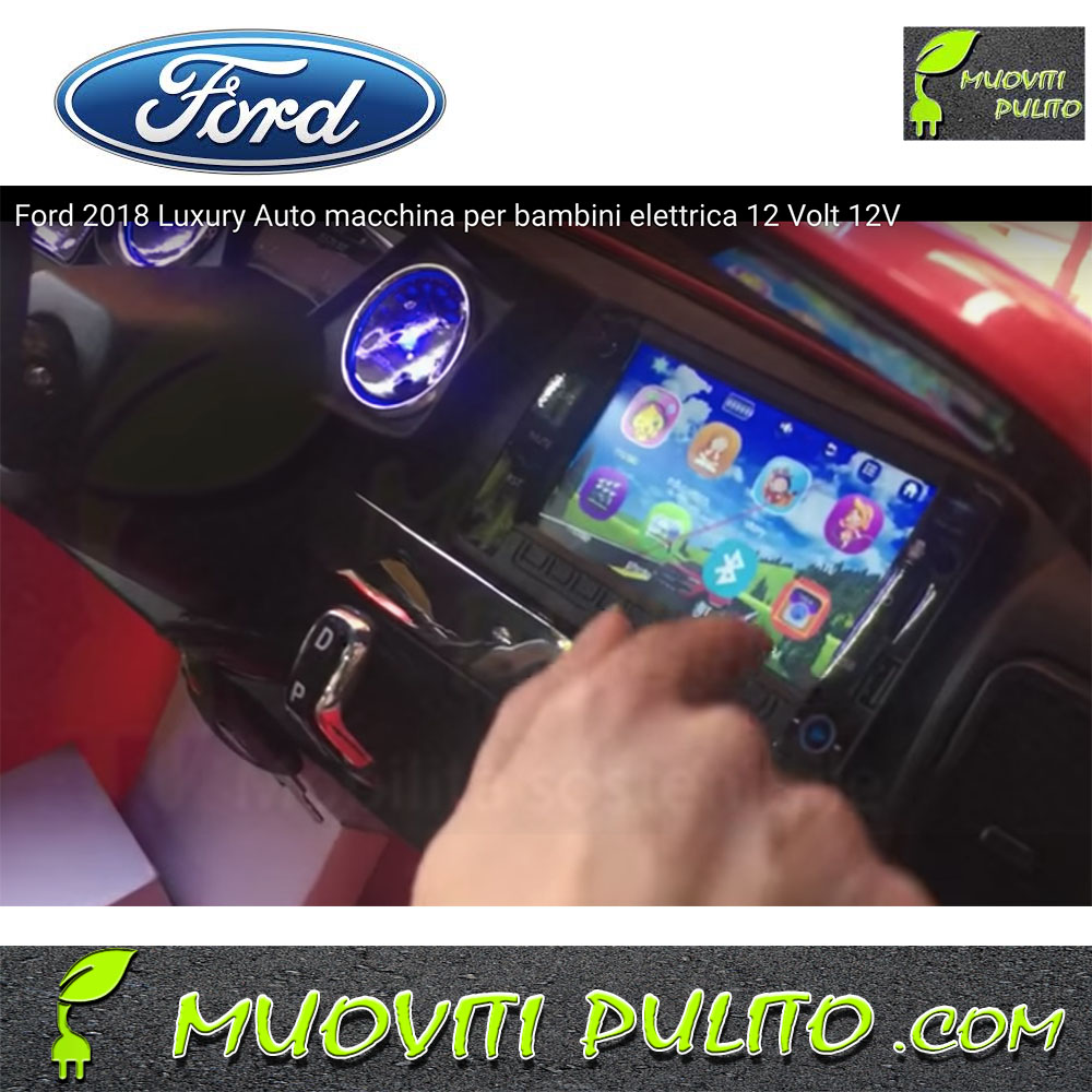Ford luxury 12v bambini 12 volt touch screen